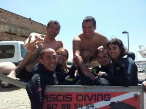 momentos especiales despues de bucear en piscis diving