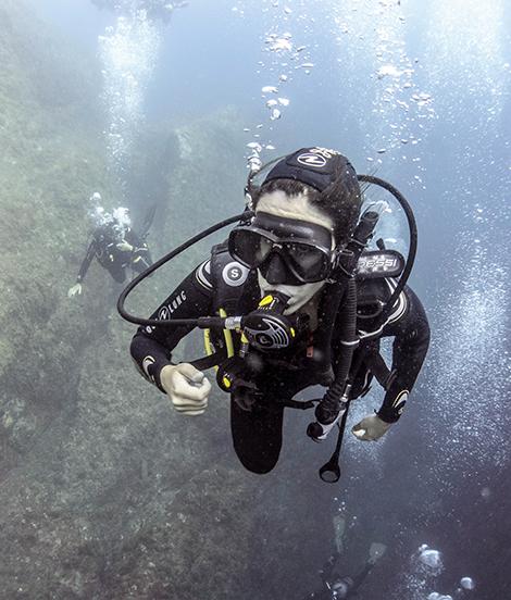 Bautizo submarino en Costa Brava